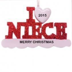 I Love My Niece Personalized Christmas Ornament