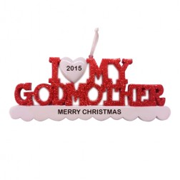 I Love My Godmother Personalized Christmas Ornament