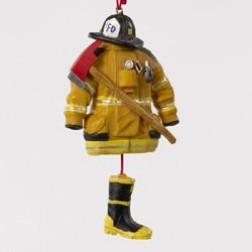 Image of 4.5 Resin Fireman Dress Ornament