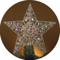 Lighted Iridescent Star Christmas Tree Topper