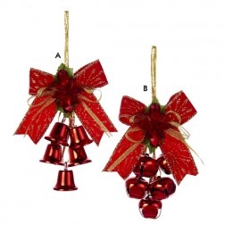 Metal Bells with Bow Ornament