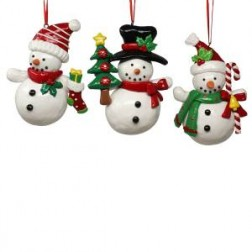 Image of Claydough Snowman Orn 3/Asstd