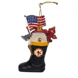 "3"" Resin Firemen Boot Ornament"