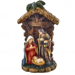 """Image of 5.25""""Resin Holy Family Tablepiece"""