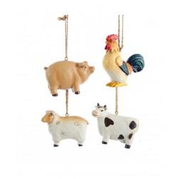 "Image of 2""Poly Farm Animal Orn 4/Asstd"