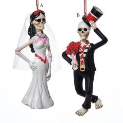 Day of Dead Skull Bride/Groom Ornament
