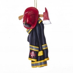 Image of Resin Firefighter Uniform Orn