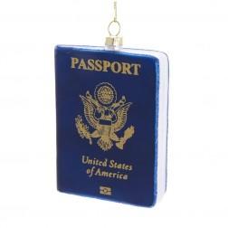 "Image of 4""Glass Passport Orn"