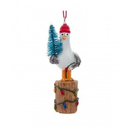 "Image of 4""Resin Christmas Seagull Beach Orn"