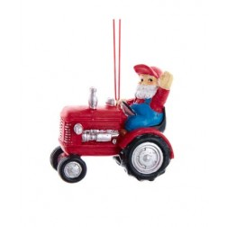 "Image of 3""Resin Santa Driving Tractor Orn"
