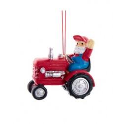 "Image of 3""Resin Santa Driving Tractor Orn"