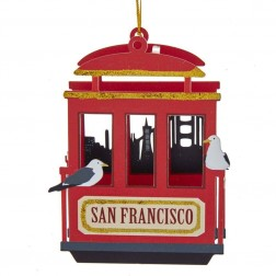 "Image of 5""Laser Cut-Out San Fran Cable Car"