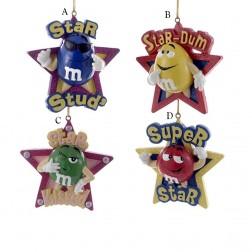 "3"" Resin M&M Star Ornament"