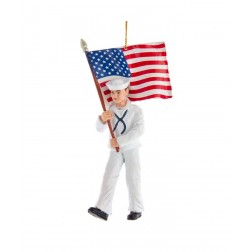 "Image of 5.75""Navy Sailor W/American Flag"