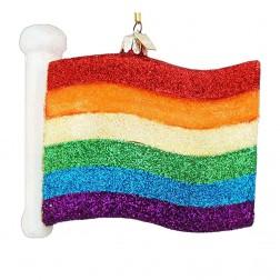 """4.5"""" Noble Gems Gay Parade Flag Ornament"""