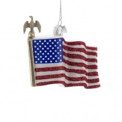 "Image of 3.5"" Noble Gems American Flag Ornament"