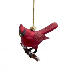 """Image of 4"""" Noble Gems Glass Cardinal Ornament"""