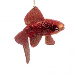 "Image of 5""Noble Gems Glass Goldfish Orn"