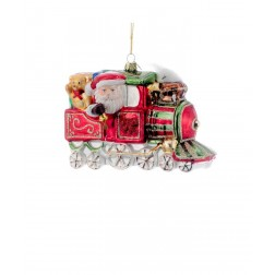 "Image of 5.5""Noble Gems Santa In Xmas Train"