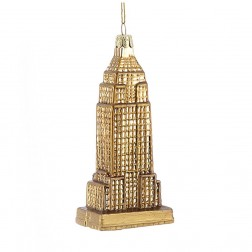 "5"" Noble Gems Glass Empire State Building Ornament"