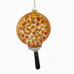 "6"" Nobel Gems Glass Pizza Ornament"