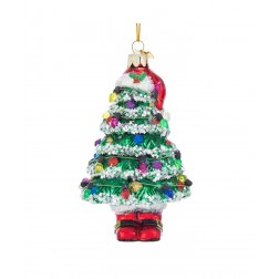 "Image of 5.25""Noble Gem Xmas Tree W/Hat+Boot"
