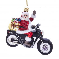 "Image of 5.5""Noble Gems Santa On Motorcycle"