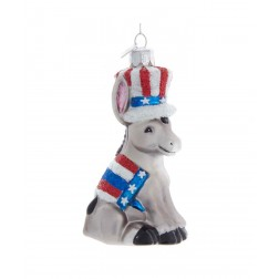 "Image of 4.5""Noble Gems Political Donkey Orn"