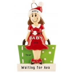 Image for Mom To Be Personalized Christmas Ornament
