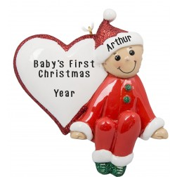 Image of Baby Heart Personalized Christmas Ornament