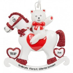 Image of Rocking Horse Personalized Christmas Ornament