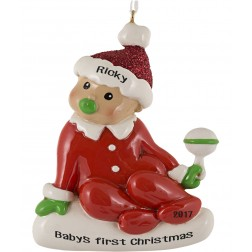 Sitting Baby Personalized Christmas Ornament