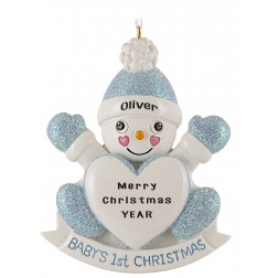 Image of Snow Son Personalized Christmas Ornament