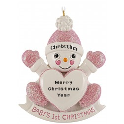 Image for Snow Daughter Personalized Christmas Ornament