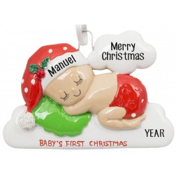 Image of Sleeping On The Cloud Personalized Christmas Ornament