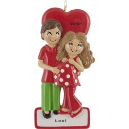 Image of Expecting Couple Personalized Christmas Ornament