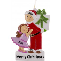 Image of Big Brother Girl Personalized Christmas Ornament