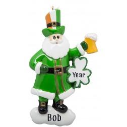 Image of Irish Santa Personalized Christmas Ornament