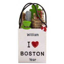 Image of Boston 3D Shopping Bags Personalized Christmas Ornament