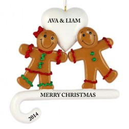 Sweet Love Couple Personalized Christmas Ornament