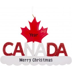 Image of Canada Personalized Christmas Ornament