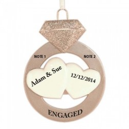 Engagement Personalized Christmas Ornament