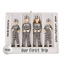 Image of Prisoner Of Alcatraz Family of 4 Personalized Christmas Ornament