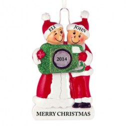 Camera Family of 2 Personalized Christmas Ornament