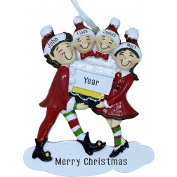 Image of Elf Family 4 Personalization Ornament