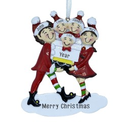 Image of Elf Family 5 Personalization Ornament