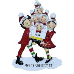 Image of Elf Family 6 Personalization Ornament