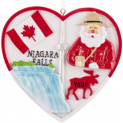 Image of Canada Heart Personalized Christmas Ornament