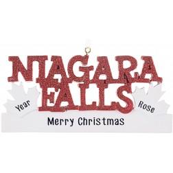 Image of Niagara Falls Personalized Christmas Ornament