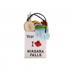 Image of Niagara Falls Shopping Bags 3D Personalized Christmas Ornament